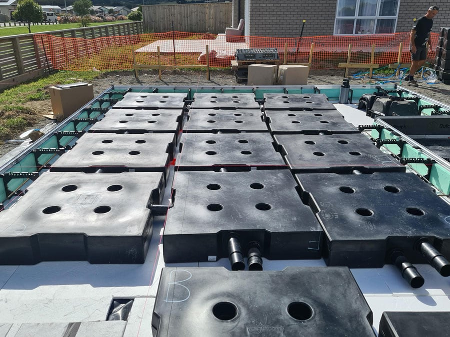 In-slab Stormwater Solution being installed in new home